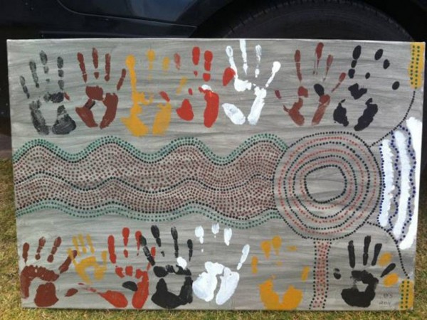 Native Fish Awareness Week Indigenous Artwork, Photo by Fern Hames. 2011