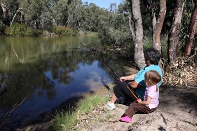 Fishing on the Murray River